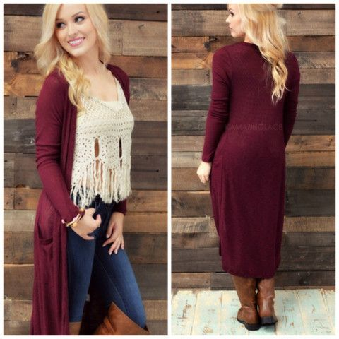 Windy City Burgundy Maxi Cardigan | Amazing Lace | Amazing Lace ...