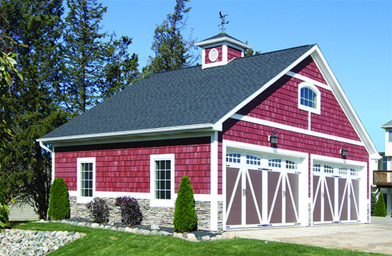 Red Barn With Vinyl Shakes Colorful Creations
