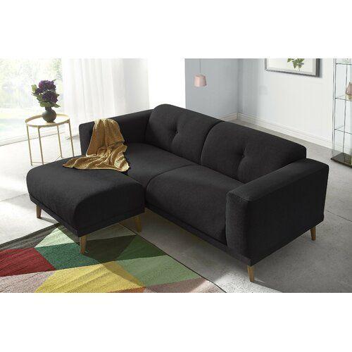 Sofa Angelica Zipcode Design Polsterfarbe Schwarz In 2020 Sofa
