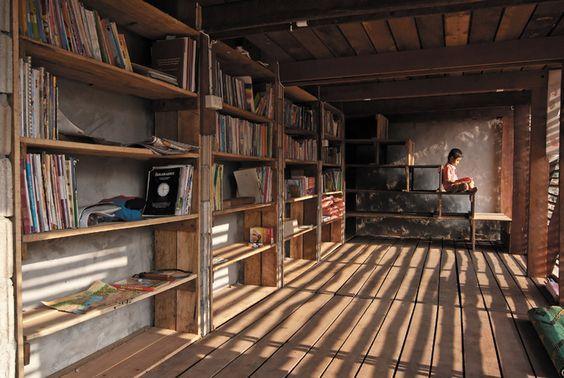 Safe Haven Library: Ban Tha Song Yang, Thailand via Fast Company