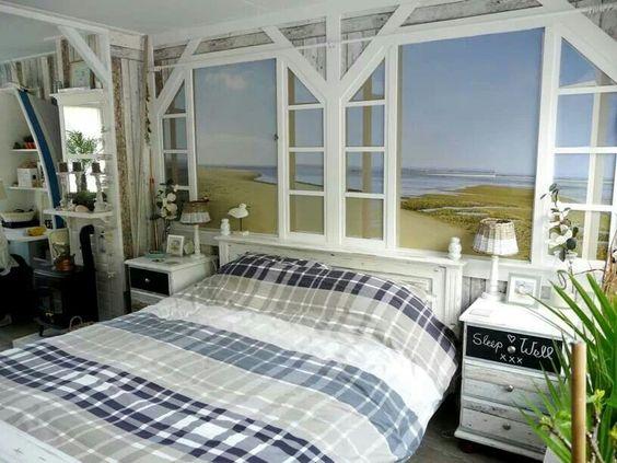 Strand slaapkamer inrichting en decoratie pinterest strengen - Decoratie suite parentale ...