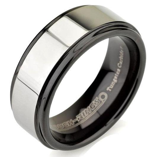 Mens Wedding Bands Black Silver Ring Mens Band By Bravermanoren In 2020 Mens Wedding Bands Black Mens Wedding Bands Black Wedding Band