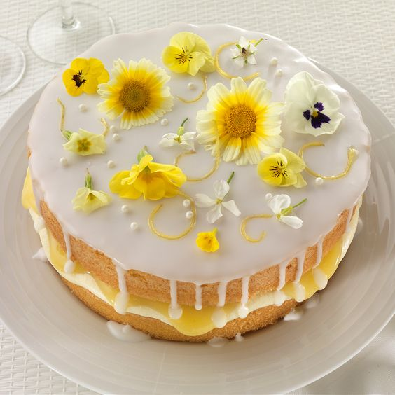 Lemon and elderflower drizzle cake - Sainsbury's Magazine