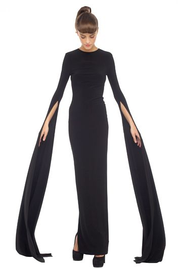 Love these sleeves! Wow!  Normal Kamali cutout dress. The cutout back is pretty amazing too. $455.