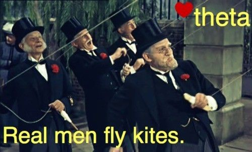 Walt Disney had asked his songwriters to write a song about a kite because of his two daughters. Both of his daughters are members of the Kappa Alpha Theta sorority and their symbol is a kite. The song Lets Go Fly a Kite is therefore dedicated to Kappa Alpha Theta.