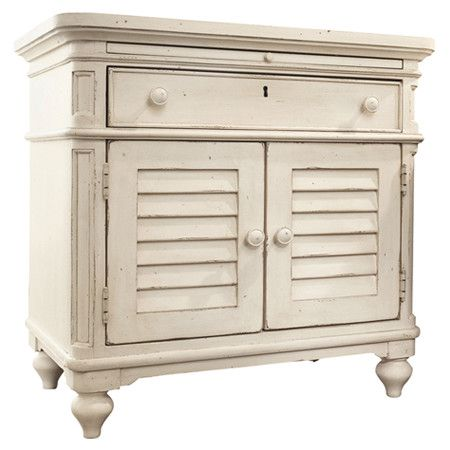 Showcasing 2 louvered doors and 1 drawer, this handsome nightstand brings timeless style to your guest room or master suite.    Pr...: