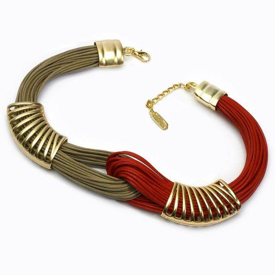 Ámbar y rojo Bond  oro platetd estaño  elegante por fysalides, $80.90