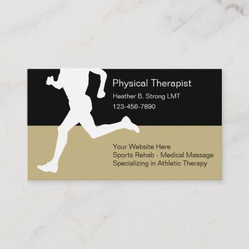Physical Therapist Business Cards Physical Therapist Therapist Medical Massage