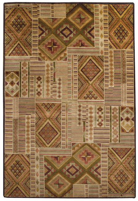 This Mosaic Style rug is hand knotted 100% New Zealand Wool.  Great for a rustic home or Cottage.OTHER SIZES AVAILABLE WHILE THEY LAST.LIMITED SUPPLY