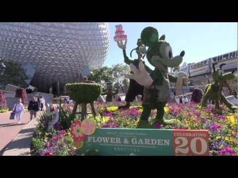 Walt Disney World Epcot 2013 International Flower and Garden Festival Opening Day - YouTube
