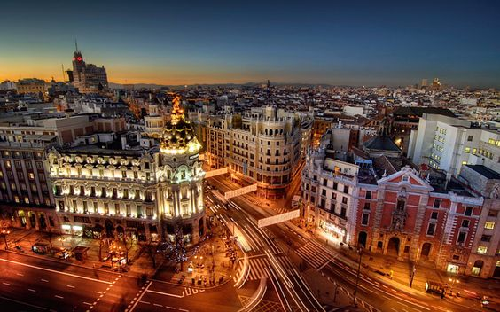 Awesome Madrid City Night Spain Wallpapers Desktop HD