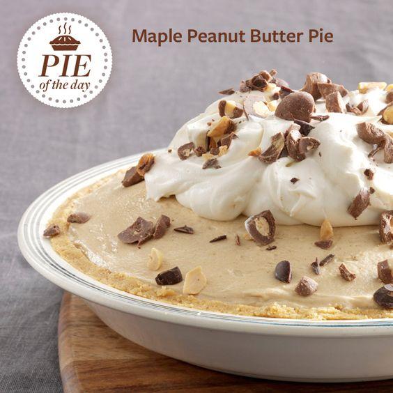 Maple Peanut Butter Pie   Recipe   Butter Pie, Pie Recipes and Peanut ...