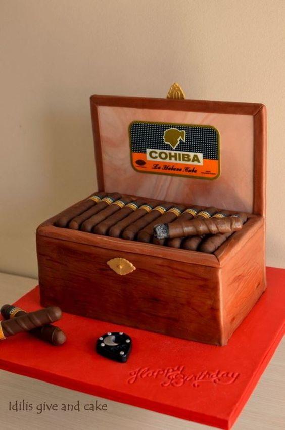 Cohiba cigars cake