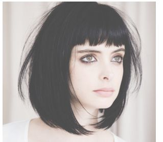 Can't decide on a hair cut.  short black bob with bangs