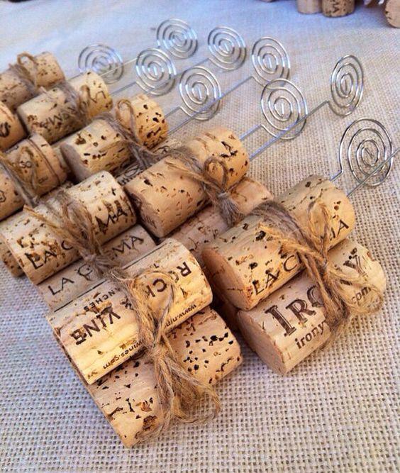 Wine Cork Table Numbers: Table Number Holders, Wedding Table Number Holders And
