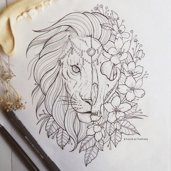 111 Drawing Ideas Cool Things To Draw For An Adventurer S Heart Lion Tattoo Tattoos Tattoo Drawings