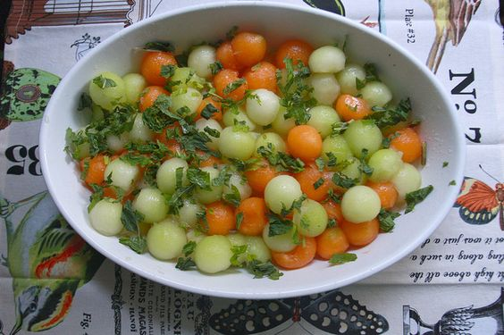 Melon & Mint Salad by shutterbean, via Flickr