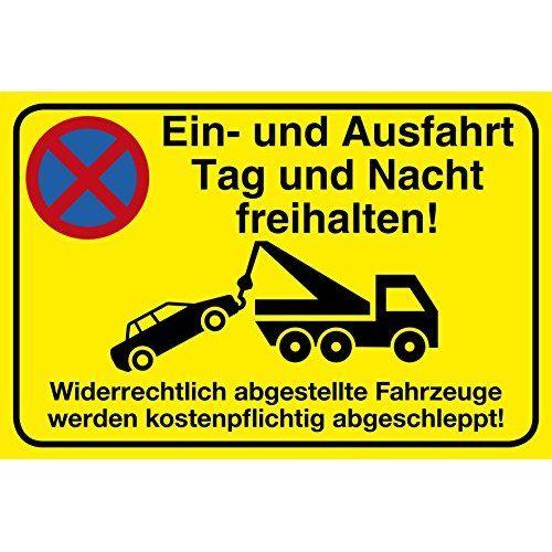 Gebotsschild Warnschild *Parken verboten Abschleppen* Einfahrt