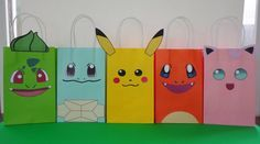 Pokemon Party Ideas- Favors - treat/ candy bags Pokemon cake decoration. Pokemon cupcake toppers/ labels/ goodie bags/ pokemon fiesta/ festa/ printable favors/ goody bags/ pokeball poke ball/ pokemon banner/ pokemon balloons/ pokemon candy table/ pokemon plates pokemon decor ideas/ pokemon candies/ pokemon invite/ pokemon invitation