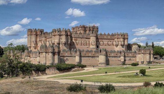 #Coca , provincia de #Segovia Panorámica del #Castillo