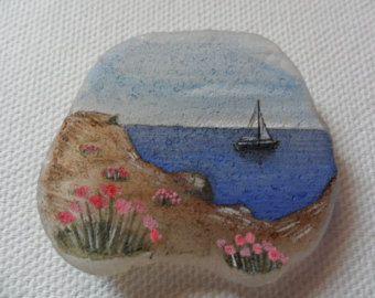 Playa soleada de Seaham miniatura Original por AlienStoatSeaGlass
