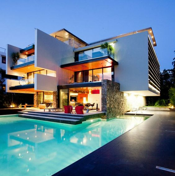 Pin By Mohamed O On Modern Villas: Villas, Greek House And Greece On Pinterest