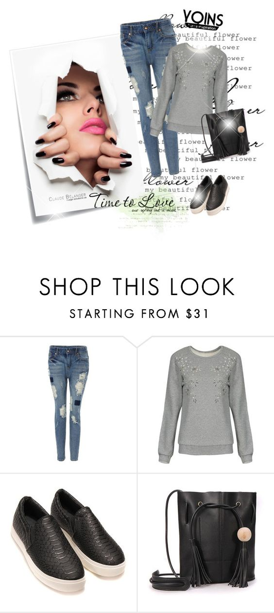 """""""YOINS 45"""" by irma-bojic ❤ liked on Polyvore featuring Post-It and vintage"""