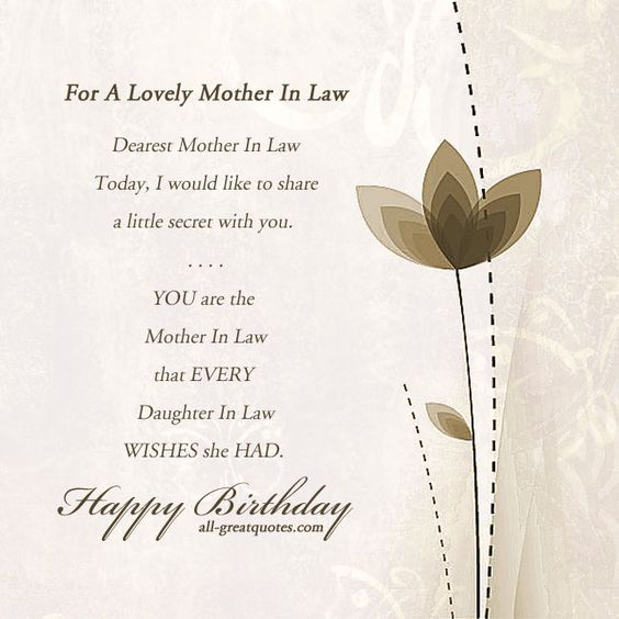 Loving Mother In Law Quotes: Happy Birthday To My Beautiful Soon To Be Mother-in-law