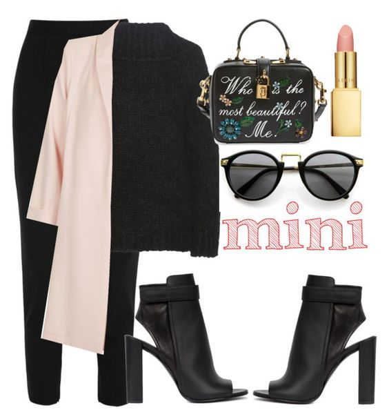 """""""💐"""" by burcaak ❤ liked on Polyvore featuring Dolce&Gabbana, Tom Ford, Topshop, Vince, AERIN, StreetStyle and coat"""