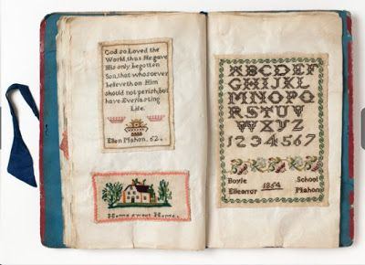 N e e d l e p r i n t: Ellen Mahon's Sampler Book From The Museum of Childhood, London