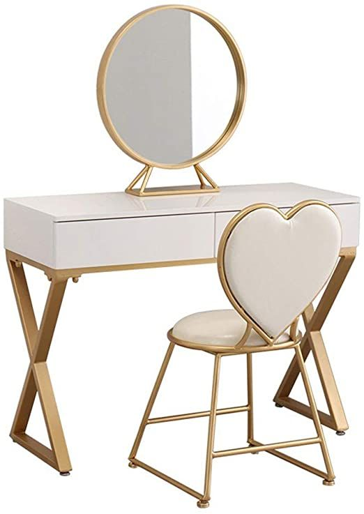 Penganguo A Dresser Dressing Table Chair Mosaic Large Drawers Easy To Assemble Large Mirror Multi Dressing Table Vanity Dressing Table With Chair Wooden Vanity