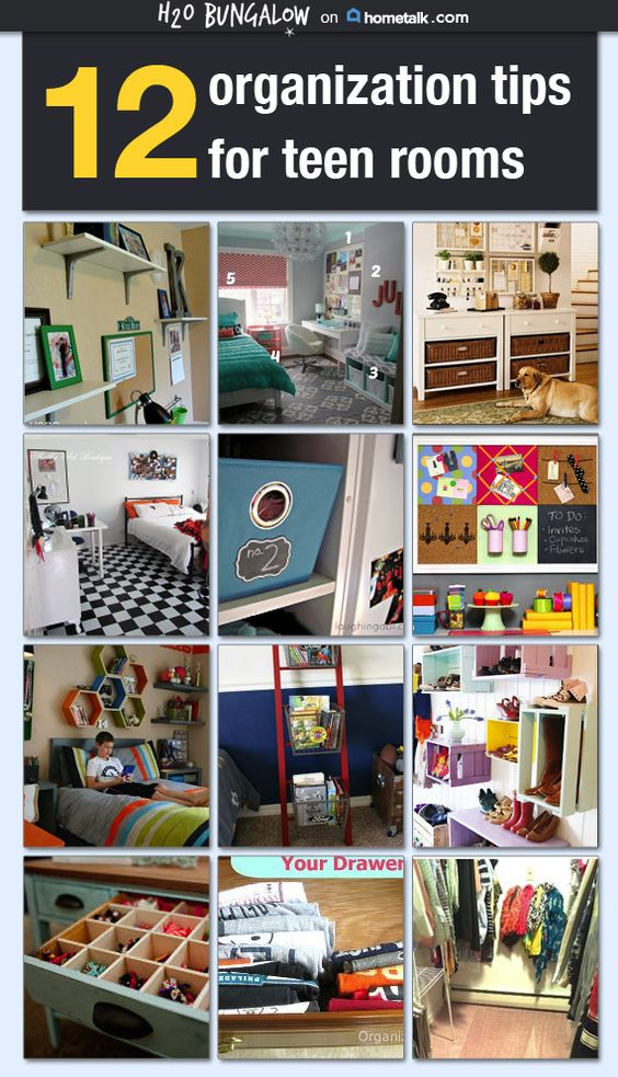 12 Smart Tips For Organizing Teen Rooms Creative Fern