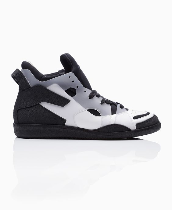 Maison Martin Margiela - Plastic Layer Contrast Ankle Trainer - Black & White