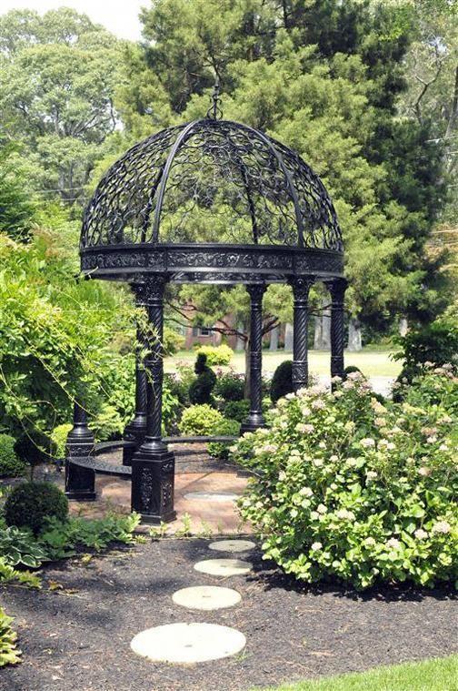 Victorian Style Cast Iron Garden Gazebo In Stock Ready To Ship In 2020 Garden Gazebo Gothic Garden Garden Arbor