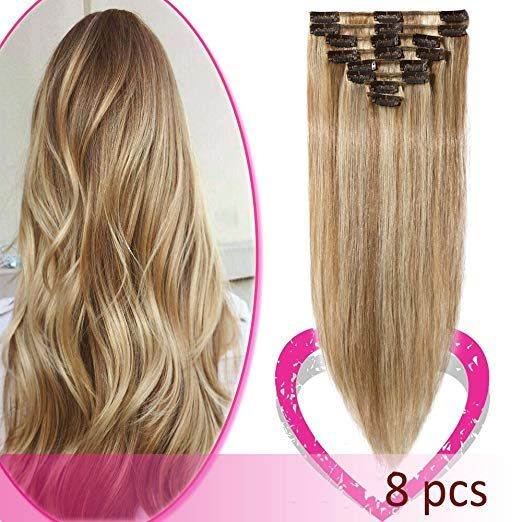 Remy Clip In Hair Extensions 100 Human Hair 22 Inch 80g Standard