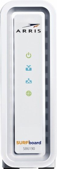 ARRIS - SURFboard DOCSIS 3.0 Cable Modem - White - Front Zoom