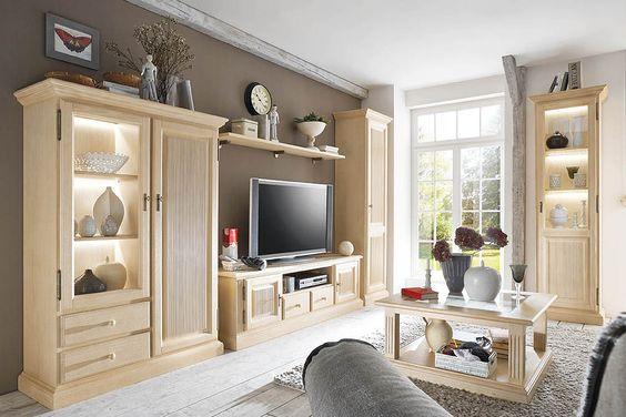 Kleiderschrank, Home affaire, »Konrad«, gelaugt\/geölt wnętrza - leinwand für wohnzimmer