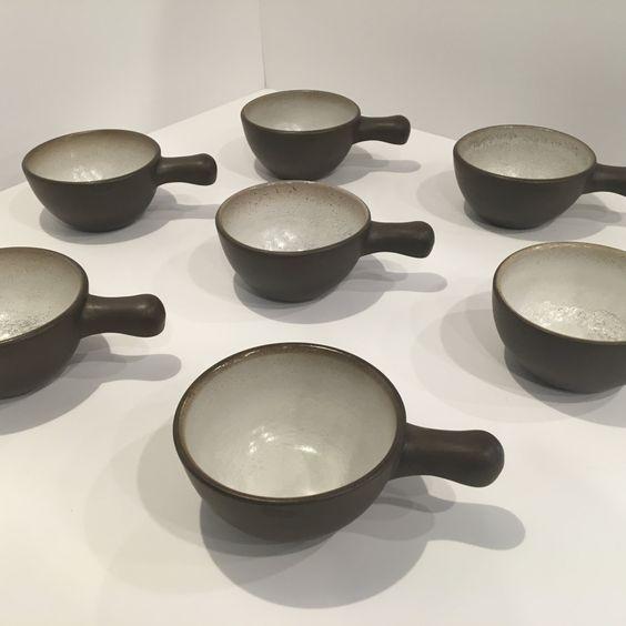 Vintage Heath Ceramics Handled Rim Bowl-Mid Century Modern Heath Pottery by MissMuseFineAntiques on Etsy