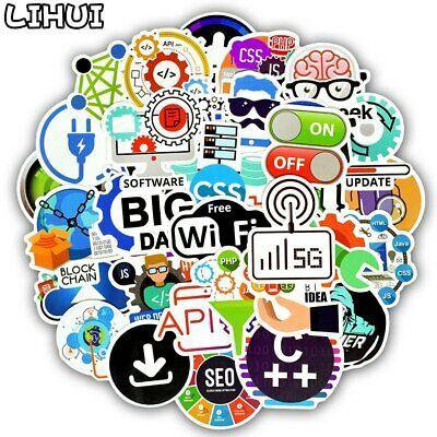 50pcs Cool Programming Developers Internet Software Sticker for Laptop Phone Fun
