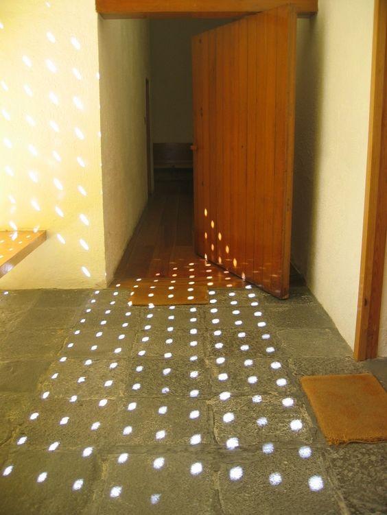 luis barragan .. light, pattern, rhythm ... clever window screen