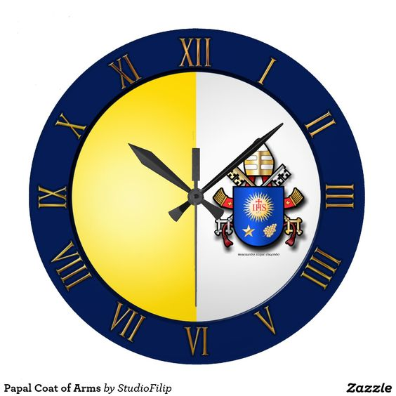 Papal Coat of Arms Wall Clock | 60 OFF Clocks | Up to 50% OFF everything else | Use code CRAZYWEEKEND during checkout. Offer is valid through November 29, 2015 11:59PM PT.