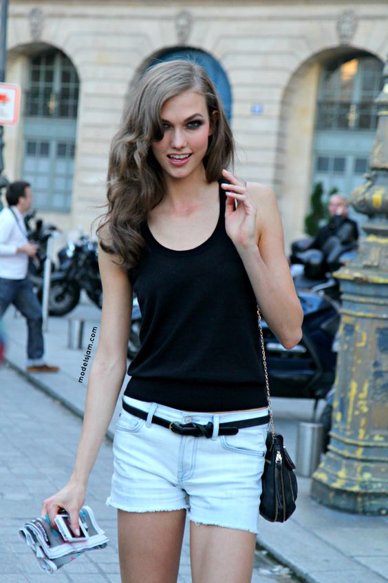 Karlie Kloss after Versace, Paris, July 2012