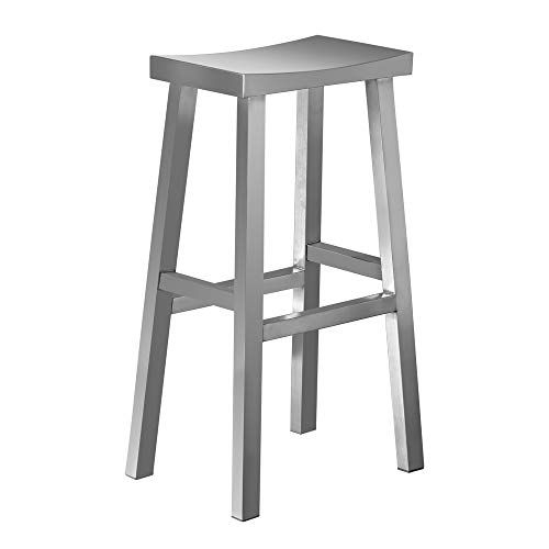 Irica Stainless Steel Saddle Seat Bar Stool Commercial Quality