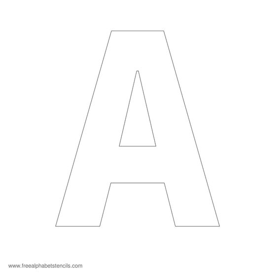35 Best Printable Images On Pinterest: Free Printable Stencil Letters 5 Inch