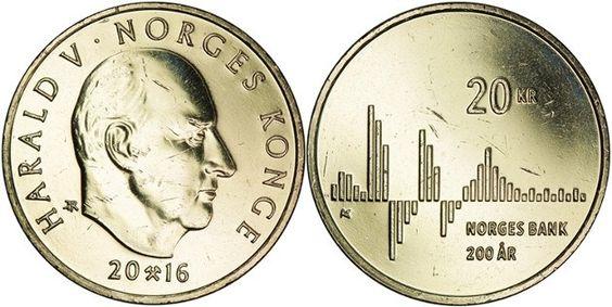 Noruega 20 Kroner 2016 – Bicentenario del Banco de Noruega