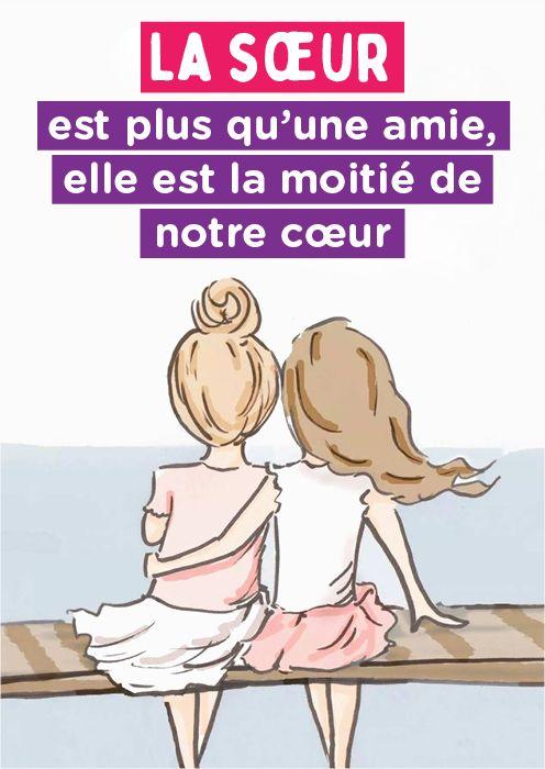 Je T Aime Ma Soeur Citation : soeur, citation, Sœur, Qu'une, Amie,, Moitié, Notre, Cœur, Poeme, Soeur,, Citation, Frere, Soeurs