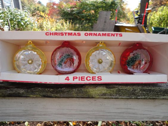 Vintage Jewel Brite Christmas Ornaments by Decor in Original Box on Etsy, $12.00