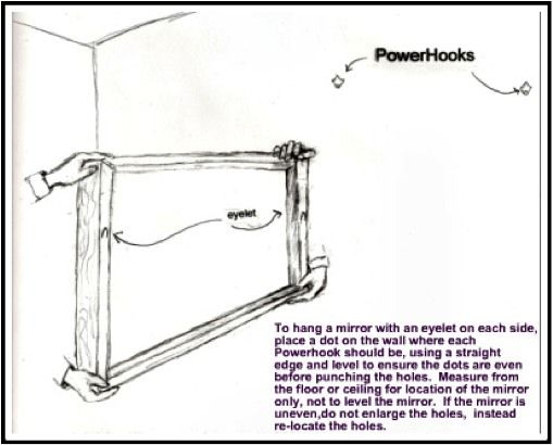 Drywall how to hang and wall hooks on pinterest for How hang heavy mirror
