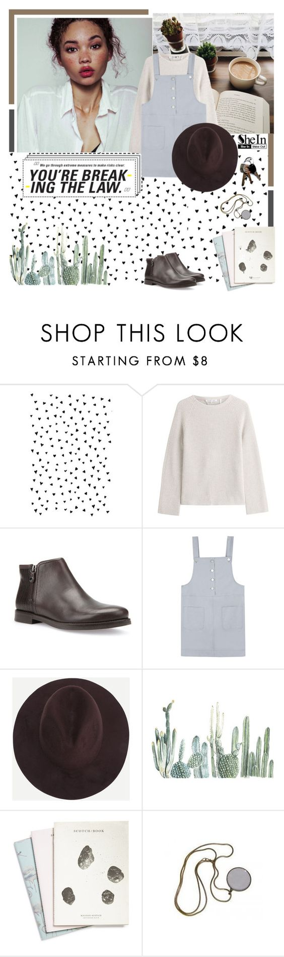"""breaking the law"" by amadahy on Polyvore featuring moda, Helmut Lang, Geox e Maison Scotch"