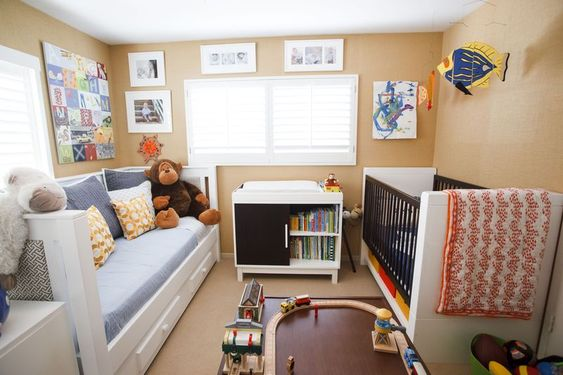 "Love this transitional set up Andrika created for her son before he moves in to his actual ""big boy"" room."